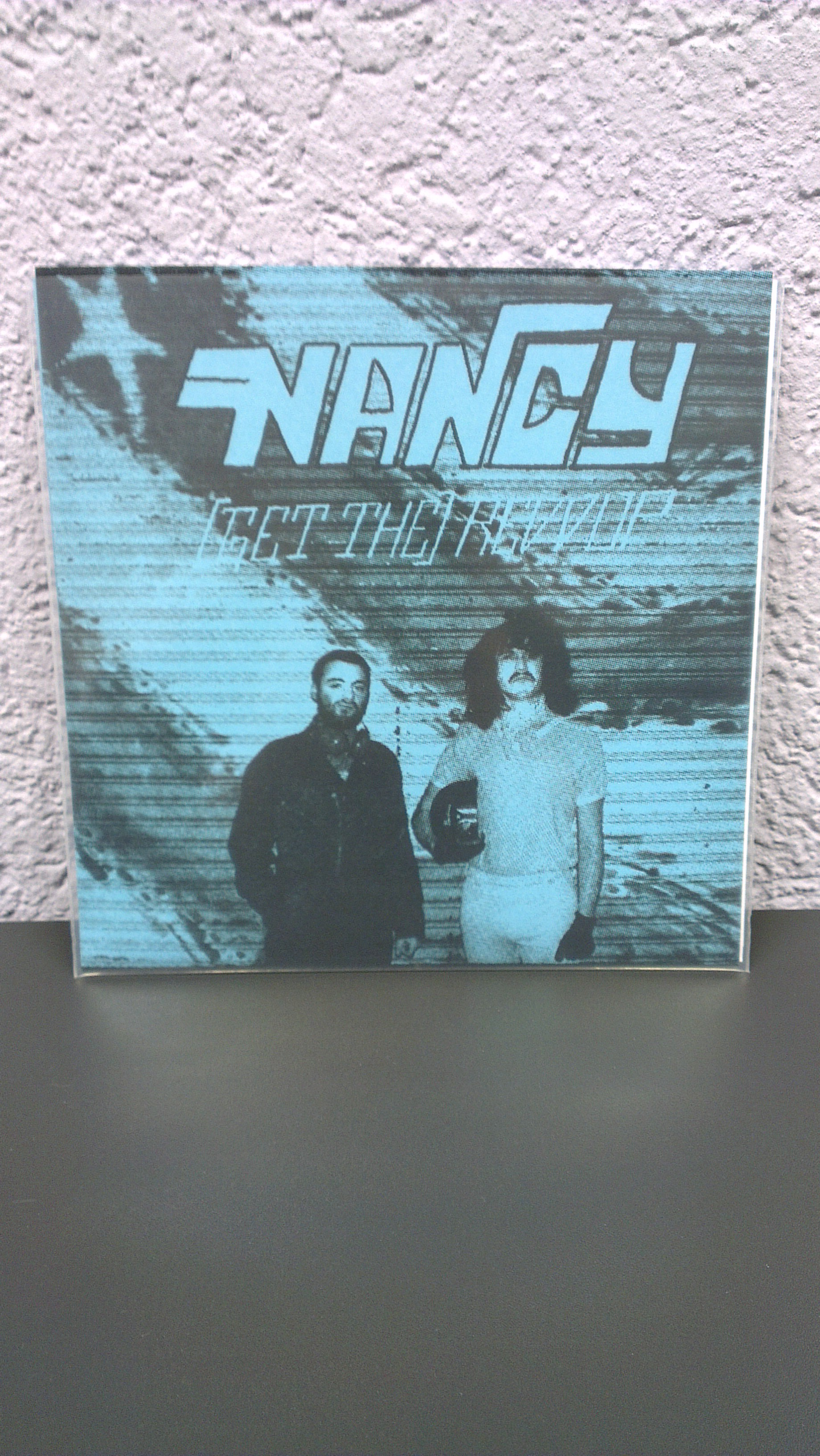 "Nancy - (Get The) REVVUP 7"" limited 350 Blue Silkscreen Cover"