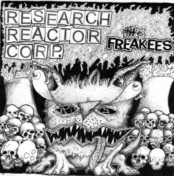 RESEARCH REACTOR Corp. / The FREAKEES - Split 7""