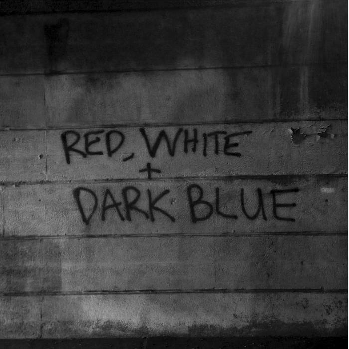 DARK BLUE - red / white LP